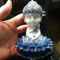 Home Accessories Ceramic Figurines Buddha Craft Miniature Car Ornaments 4 ColorS Vintage Home Deco Buddhist Feng Shui Decoration