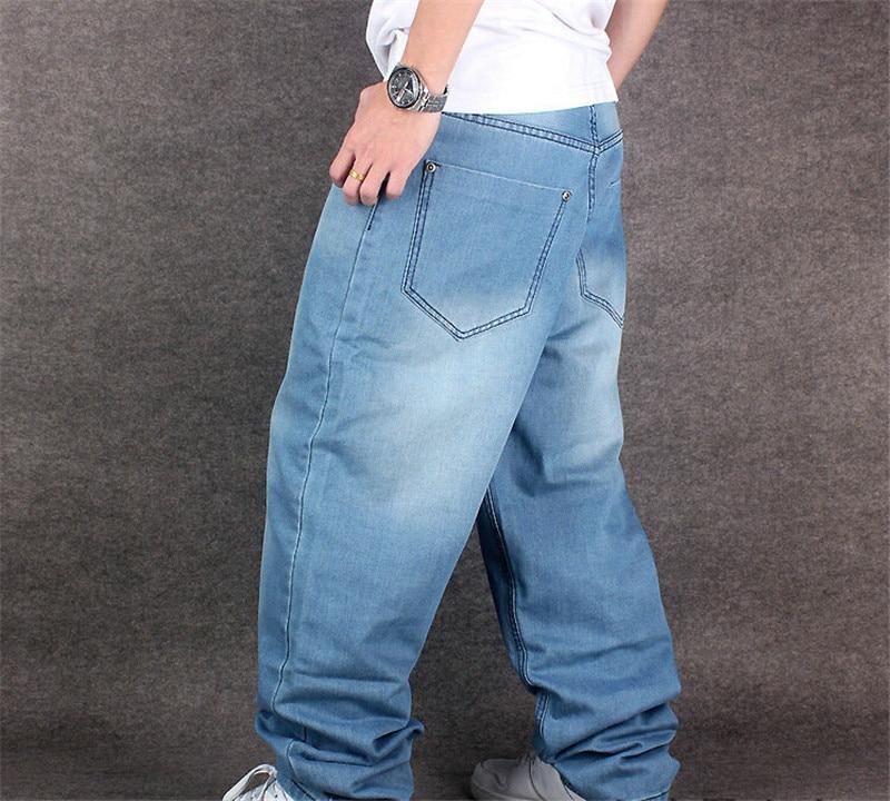 Roulettes 2015 30 36 Denim 42 40 38 Rap Planche Hip Jeans Style À 32 34 46 Lâche Grande Baggy Taille Hop Hot Hommes De Blue Pantalons 6RTqyrF6xw