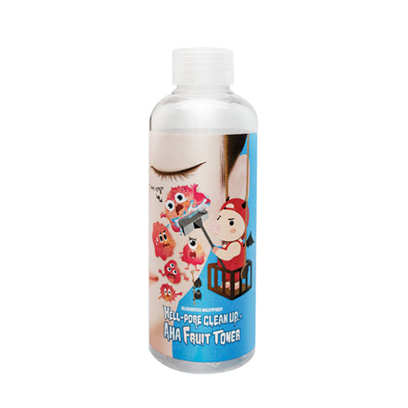 Elizavecca Hell-Pore Clean Up AHA Fruit Toner Face Care Blackhead Remover Facial Serum Shrink Pore Dead Skin Exfoliating Essence