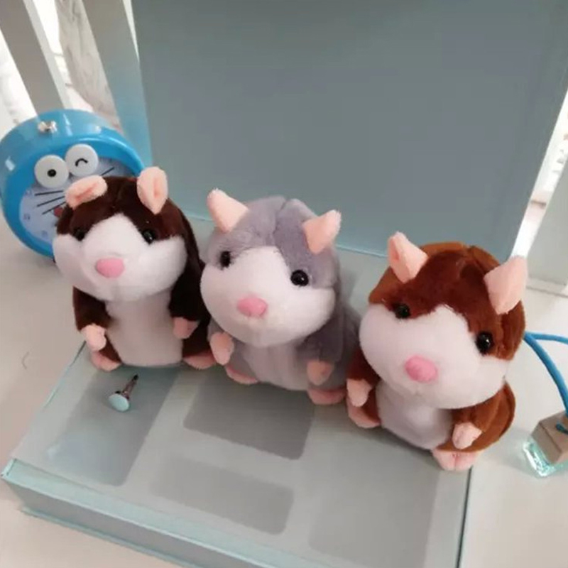 Electronic Toys Electronic Pets 1 Pc Talking Hamster Mouse Pet Plush Toy Sound Record Hamster Educational Toy For Children Gift Cute Speaking Battery Excluded