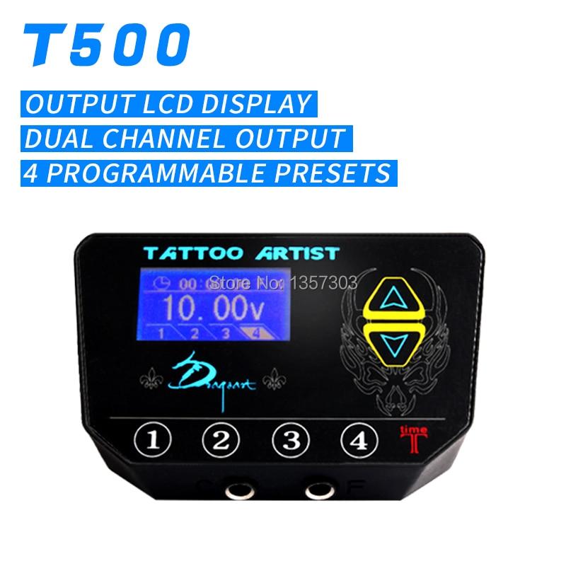 купить New T-500 LED display Tattoo Power Supply Product Free Shipping fuentes de alimentacion tattoo по цене 5779.79 рублей