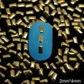 Nrg10 1000 unids/lote envío gratis oro de gaza espárragos Rhinestoen Gems 3D de Metal que flotan arte de DIY decoración de uñas de arte