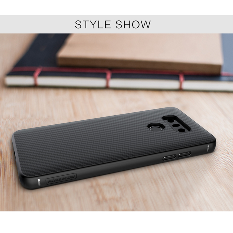 For LG G6 phone case Original NILLKIN Synthetic Fiber back cover for LG G6 5.7 case coque work with magnetic holder
