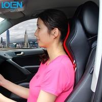 2016 New 3D Memory Foam Car Leather Neck Pillow Super Auto Seat Cover Head Neck Rest