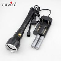 Underwater Diver Flashlight Torch XM L2 T6 LED White Yellow Light Lamp Waterproof Diving 100m 18650
