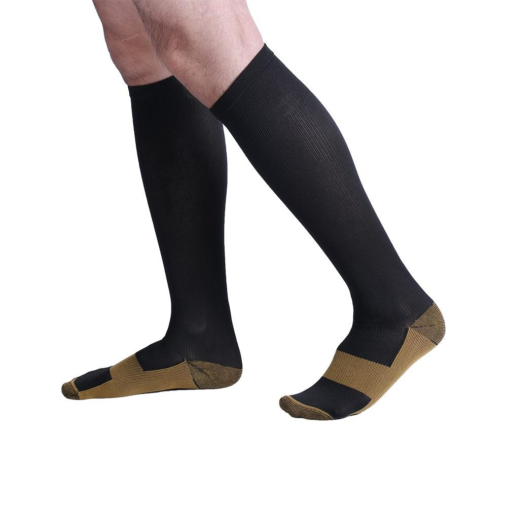 Men's Socks Fast Deliver 3 Pairs Unisex Miracle Copper Compression Socks Knee Anti-fatigue Leg Slimming Socks For Men And Woman