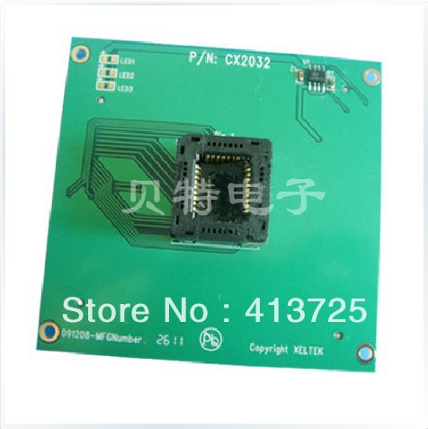 PLCC32 block programming block CX2032 test burn, convert, adapter ic qfp32 programming block sa636 block burning test socket adapter convert