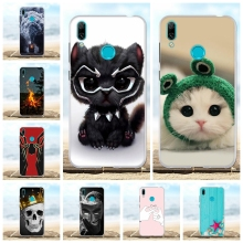 For Huawei Y7 2019 Case Slim Soft TPU Silicone Prime Pro Cover Flowers Pattern Enjoy 9 Bag