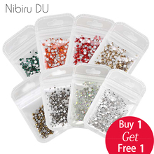 Nail Art Rhinestone SS4-SS12 Mix Size Silver Base Best Effect 500pcs/pack Crystal Glass Flatback Non Hotfix Rhinestones