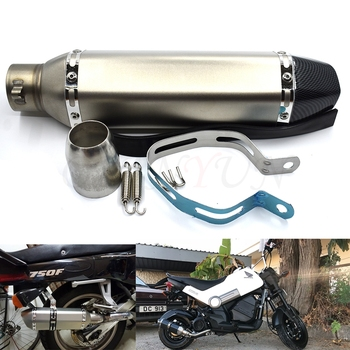 for Motorcycle parts Exhaust Universal 51mm Stainless Steel Motorbike Exhaust Pipe FOR Suzuki stimulate 400 Bandit 250/400 GSX40