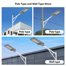 Led Solar Street Light 20w 40w 60w Outdoor Lighting Street Lamp Waterproof IP65 PIR sensor Smart light changes led light
