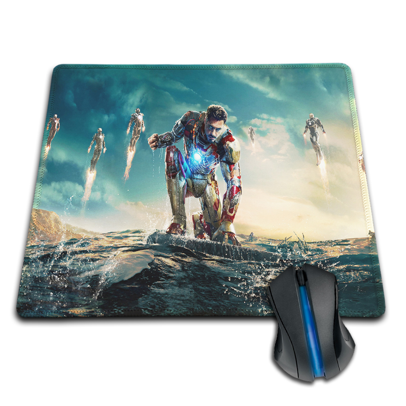 Customized Iron Man Tony Stark Cool Silicon Anti-slip Mousepad Computer Mouse Pad Mat For Optical Laser Mice Trackball Mousemat