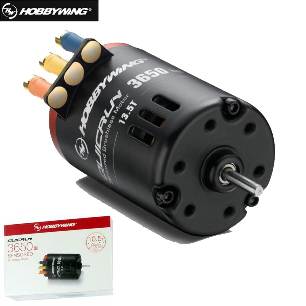 1 boîte Hobbywing QUICRUN 3650 Sensored G2 6.5 T 8.5 T 10.5 T 13.5 T 17.5 T 21.5 T 2-3 S Course Brushless Moteur Pour 1/10 1:12 Rc Voiture camions