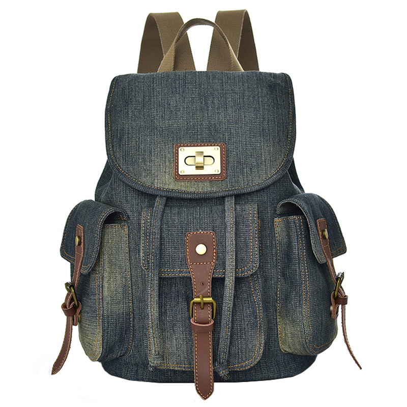 Retro cowboy backpack female Korean 2018 leisure literary backpack student male canvas backpack travel backpack