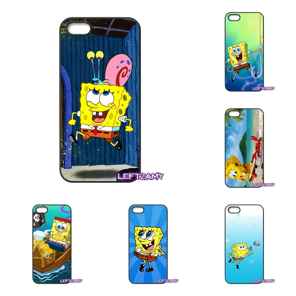 Cartoon Spongebob Squarepants Hard Phone Case Cover For iPhone 4 4S 5 5C SE 6 6S 7 8 Plus X 4.7 5.5 iPod Touch 4 5 6