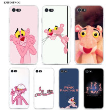 Transparent Soft Silicone Phone Case Pink Panther for iPhone XS X XR Max 8 7 6 6S Plus 5 5S SE