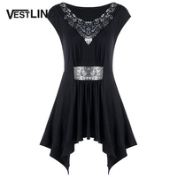 VESTLINDA Sequeined Tank Top Women Clothing Embellished Sparkly Cap Sleeve Tank Top Feminina 2018 Fashion Solid