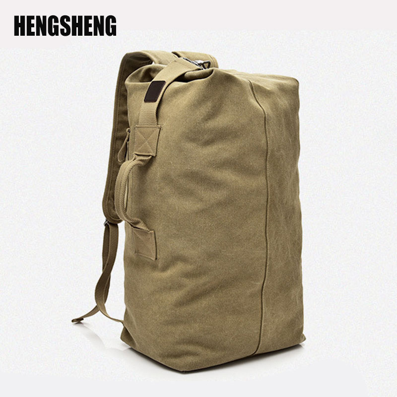 Large Capacity Man Travel Bag Mountaineering Backpack Men Bags Canvas Bucket Shoulder Bag Male Canvas Backpacks A7135
