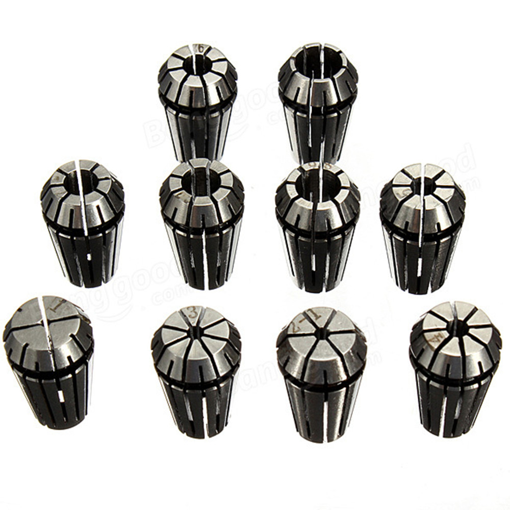 CNC ER16  tool holder collets 1mm to 10mm Chuck Collet  Spring Collet Set  For CNC Milling Lathe Tool  er16 bt40 long spring collet holder chuck milling lathe tool