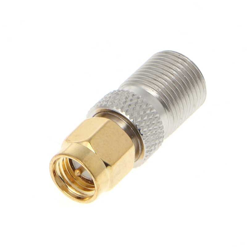 OOTDTY SMA Female To Type F Female Plug Straight RF Coaxial Adapter Connector Converter