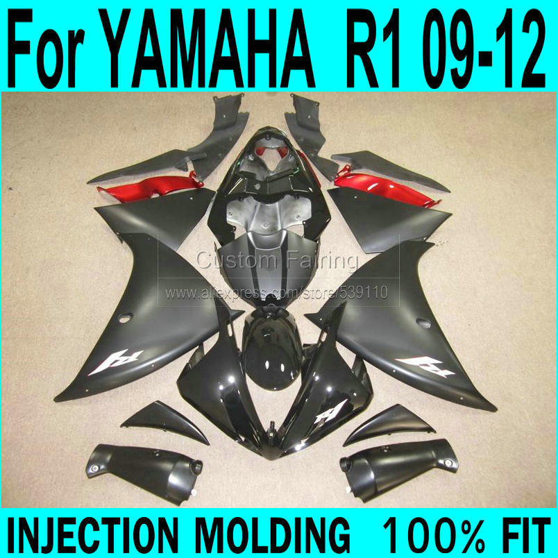 Matte Fairings For YAMAHA  R1 2009 - 2012 ( sticker customize ) 09 Injection Fairing kit free shipping ll39 top quality aftermarket abs fairings for yamaha r1 2012 kit with free shipping
