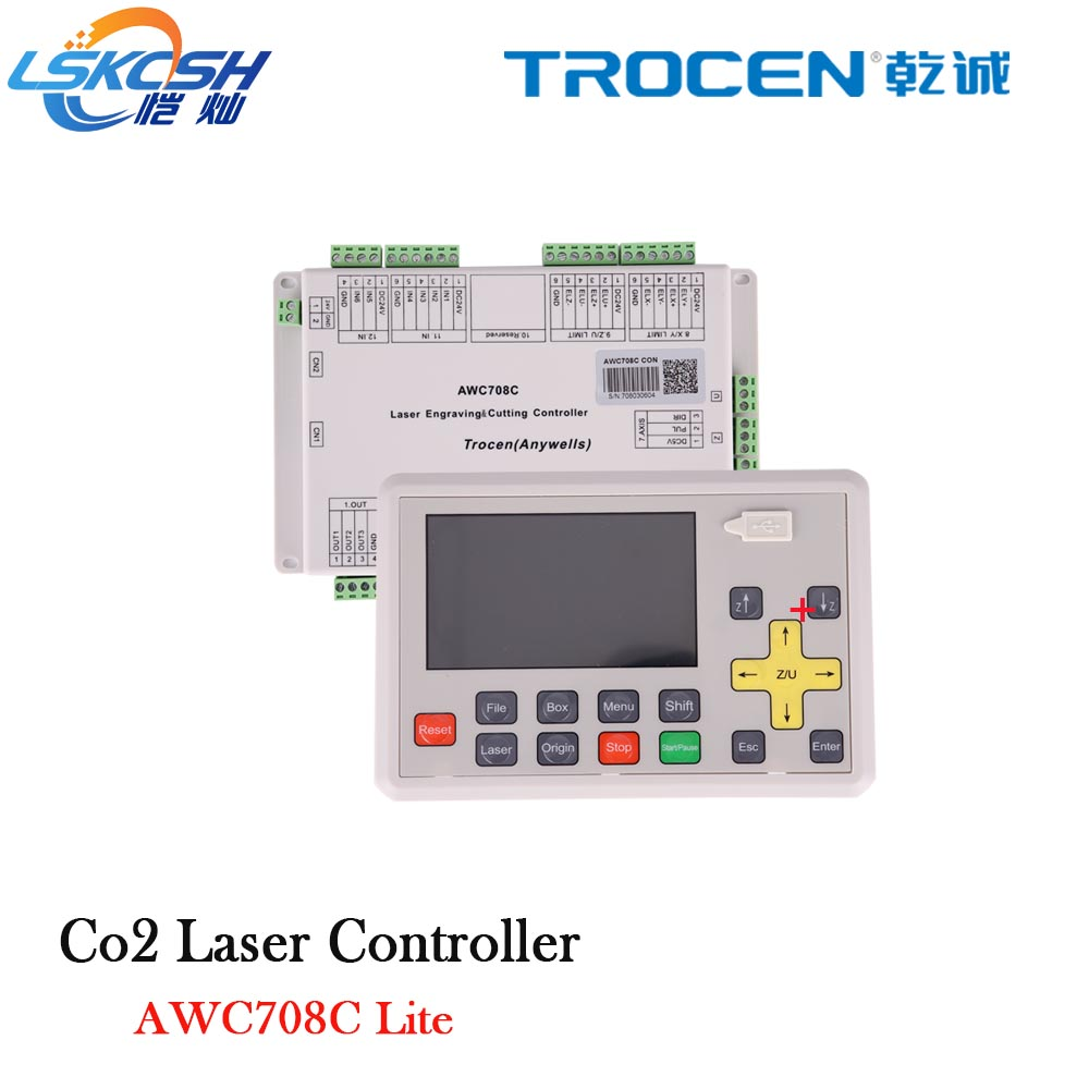 Trocen de Gravure Anywells AWC708C LITE Co2 Laser carte Contrôleur Du Système Carte Pour Laser Machine De Découpe Machine De Gravure Cutter Graveur