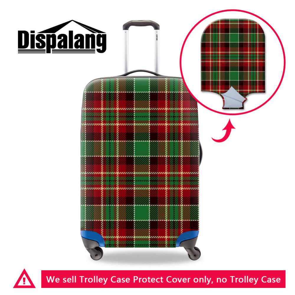 Dispalang Luggage Protective Cover Thick Elastic Plaid Pattern Suitcase Dust Cover Size SML Fashion Travel Accessories Supplies