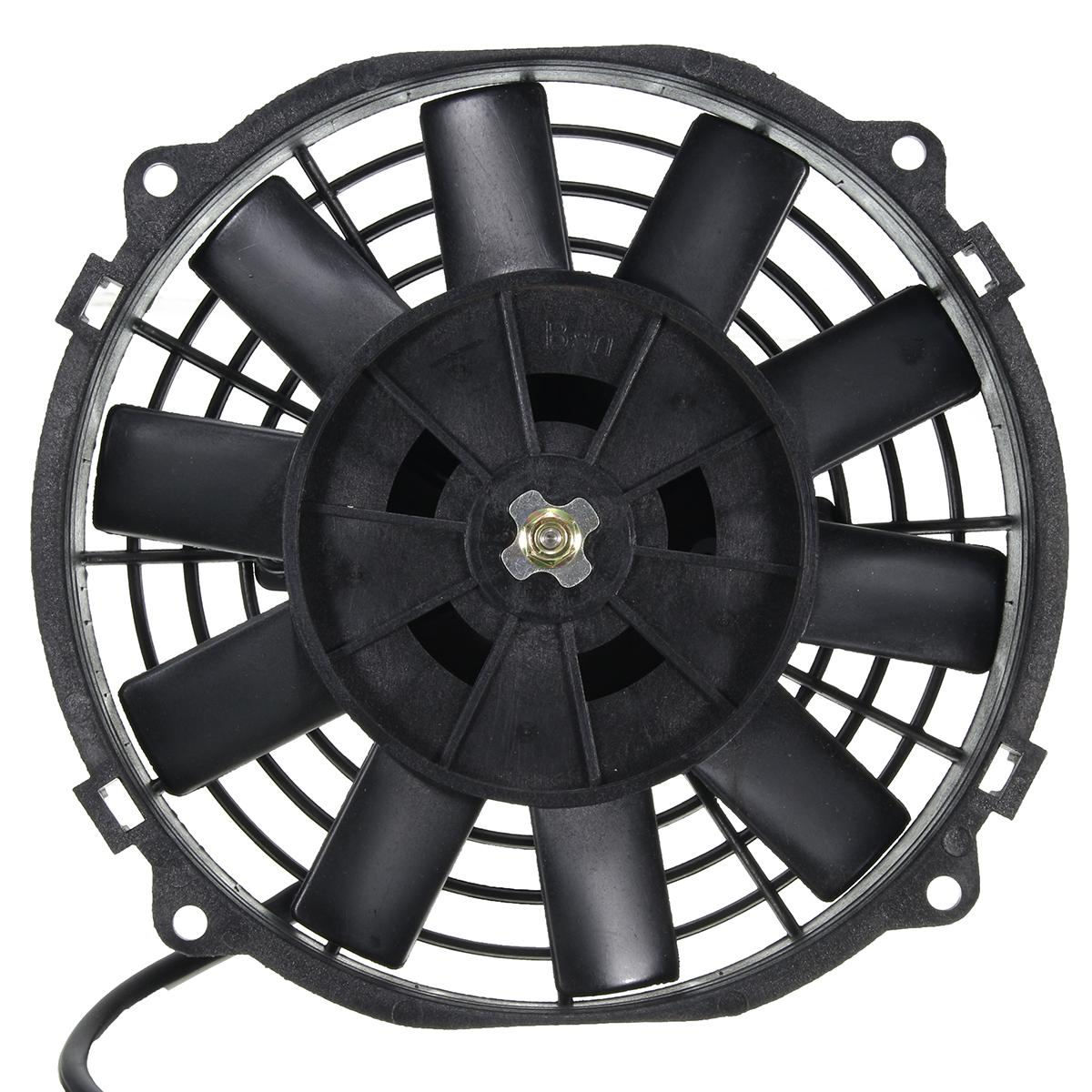 Image 2 - Universal 8 9 10 12 14 Inch 12V 80W 2100RPM Straight Black Blade Electric Cooling Radiator Fan Kit-in Fans & Kits from Automobiles & Motorcycles