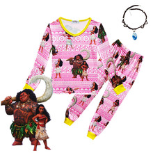 Hot Moana Pajamas Baby Clothes Little Kids Pajama Sets Children Costume Toddler Baby SleepWear 3-10Y pajama sets frutto rosso for girls tk117g044 sleepwear kids home suit children clothes