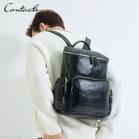 High Quality Real Genuine Leather Backpack Fashion Men Women S Travel Bags School Bag Braand Design