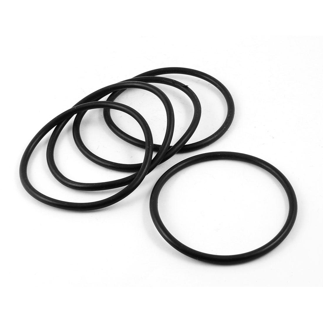 5 Pcs 90mm x 80mm 5mm Rubber Oil Sealing O Rings for Mechanical