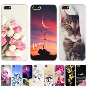 Image 1 - Soft Silicone Cover For Huawei Y5 2018 Y5 Lite 2018 TPU Cute Case for Huawei Y5 Y 5 Prime 2018 Fundas Coque Phone Capas Bumper