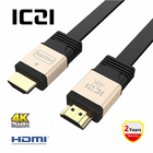 ICZI UHD HDMI Cable HDMI to HDMI Connector HDMI Ethernet Aluminum Body Gold-Plated 3D 4K 60Hz Adapter For PC HDTV PS3 Projector