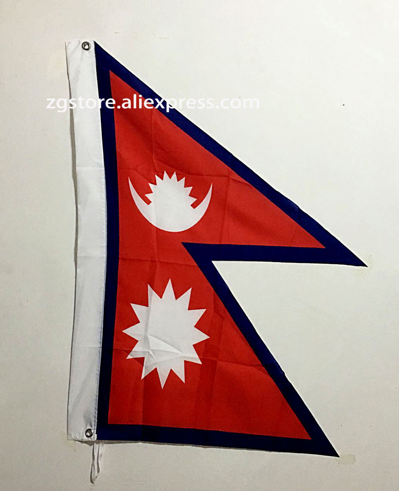 Nepal Asia National Flag All Over The World hot sell goods 3X5FT 150X90CM Banner brass metal holes