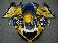 For Suzuki GSXR 1000 2000 2002 ABS Fairing Injection Bodywork Kit Yellow Blue Motorcycle Part