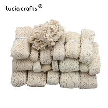 Lucia crafts 2/6y  Cotton Trim   Lace Ribbons  Sewing Fabric l DIY Handmade Accessories N0105