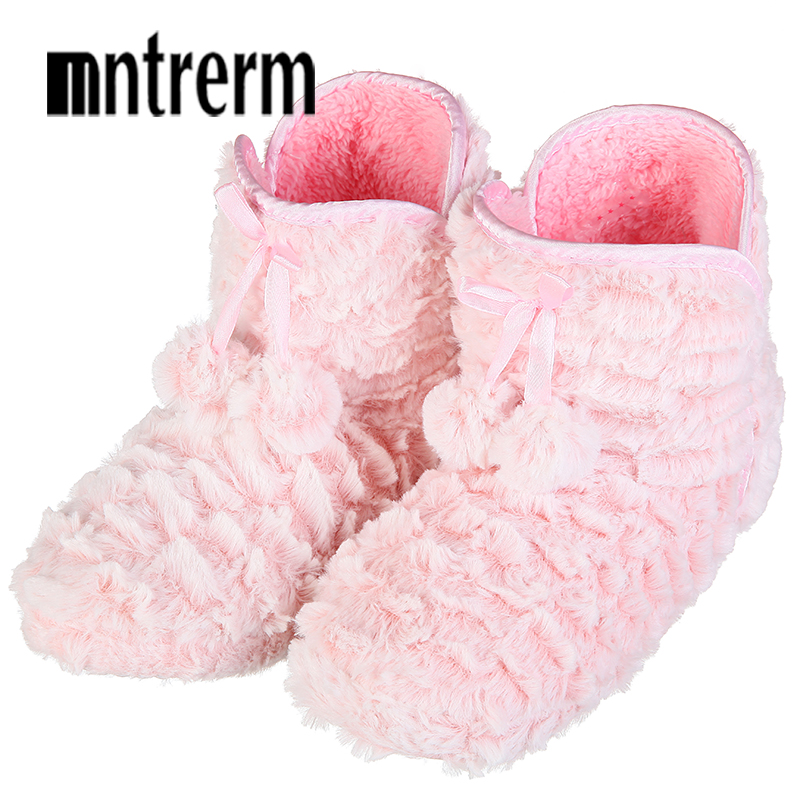 Mntrerm 2018 Fashion Indoor Home Slippers Warm Soft Plush Slippers Comfortable Pure Color Indoor Slippers Cute Women Shoes New new 2018 indoor