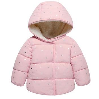Baby Girls Coat & Jacket Children Outerwear winter Hooded coats Winter Jacket Fashion Kids Coat children's Warm Girls clothing 1