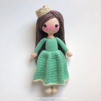 crochet toys amigurumi handmade DOLL girls rattles model number HH035