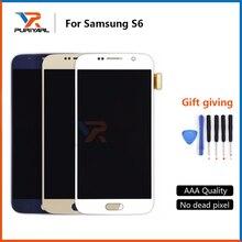3 PCS 100% Super AMOLED Untuk Samsung Galaxy S6 G920 G920f G920i G920A G920K LCD Display Sentuh Majelis Layar Penggantian