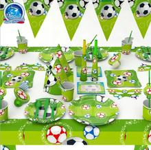 84pcs\lot Football/Soccer theme Package Kids Birthday Decoration Set Theme Party Supplies Baby Pack