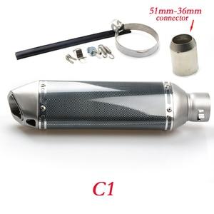 Image 4 - Глушитель выхлопной трубы из углеродного волокна для мотоцикла rcycle silencieux moto escape aventura modificada для s1200 gs f800 gs mt10