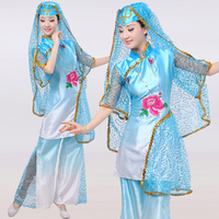 Hmong Clothes Hot Sale Sale 2017 Chinese Folk Dance Costumes Hui Nationality Clothing Muslims Ethnic Minority Stage Performance