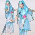 Ropa Hmong Venta Caliente Venta 2016 Trajes de Danza Folclórica china Ropa Nacionalidad Hui Musulmanes Minoría Étnica puesta en Escena