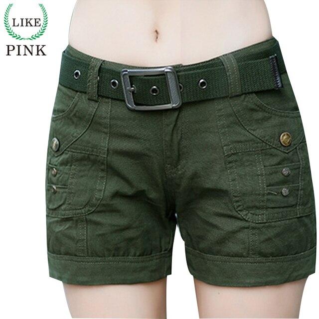 LIKEPINK 2017 Fashion Shorts With Belt Women Military Camouflage Print Summer Style Sexy Micro Short Feminino Mujer S~3XL