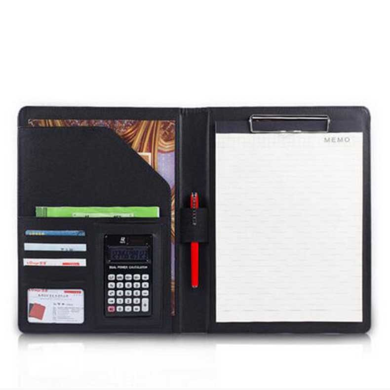 Free shipping A4 multi-function business office dedicated folder sales manager clip/signing this contract carpetas pasta escolar manager folders with 4000mah mobile power multifunction cument holder manager holders office supply work accessories