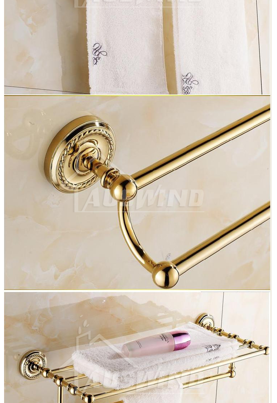 Europe Antique Gold Bathroom Accessories - Daily Thunder Deals