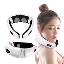 EMS Electric pulse Neck Treatment Impulse Cervical Vertebra Back Shoulder Pain Relief Massager Relaxation Health Care