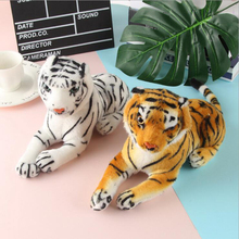 25cm Lovely Simulation Little Tiger Plush Toys Sitting Tiger Animal Plush Doll Children Gift Home Decoration larggest size 170cm simulation tiger yellow or white prone tiger plush toy surprised birthday gift w5490