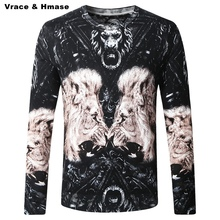 Chinese style personalized lion pattern printing pullovers men sweater 2016 Autumn&Winter new fashion quality sweater men M-4XL